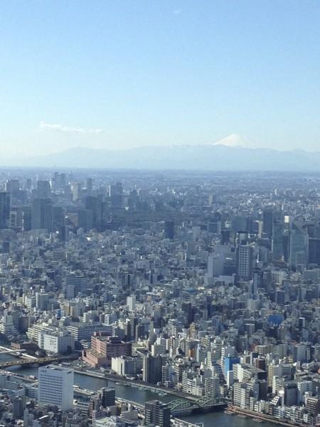 富士山が遠くに見えた スカイツリーからの展望