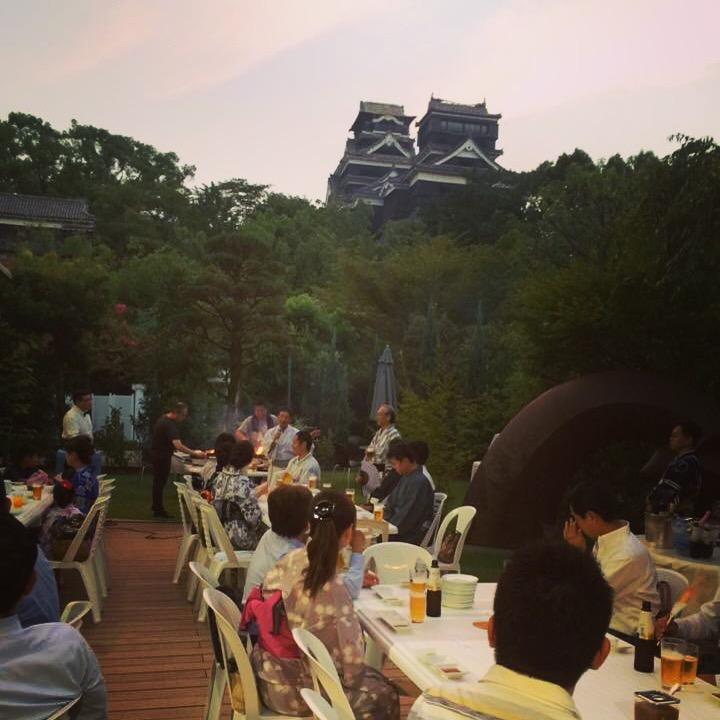 熊本城と異業種交流会