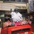 熊本中央郵便局のたぬきポスト:2017年春バージョン