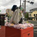 熊本市中央郵便局のたぬきポスト:2018年春バージョン